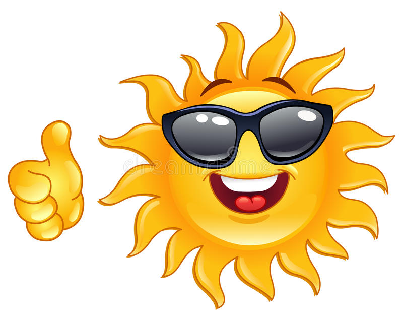 Download Thumb up sun stock vector. Image of shiny, showing, face - 19925897