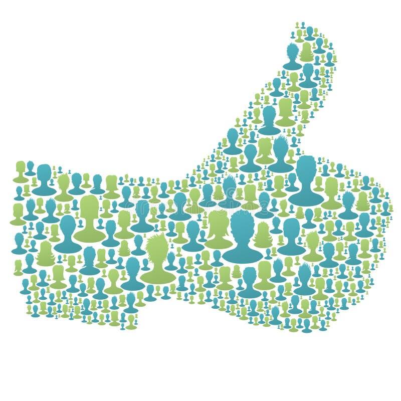 Thumb Up Symbol Royalty Free Stock Photography