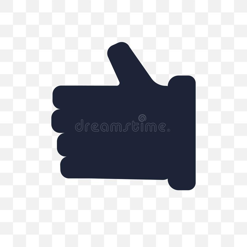 Thumb up transparent icon. Thumb up symbol design from Success c vector illustration