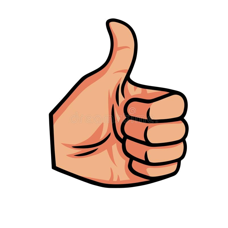 Free Thumb Up Vector Icon Illustration Royalty Free Stock Image - 99850256