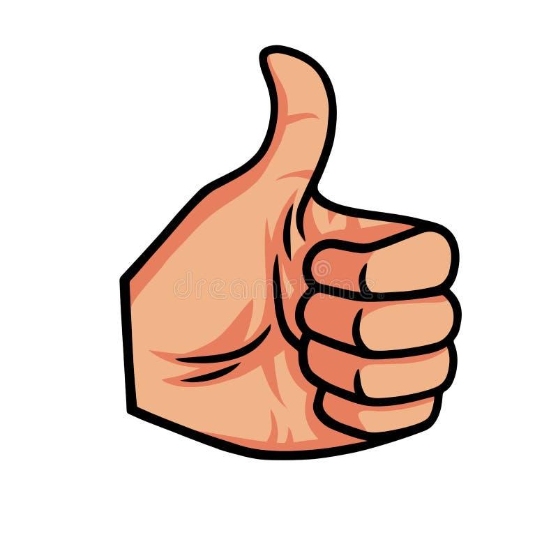 Thumb Up Vector Icon Illustration vector illustration