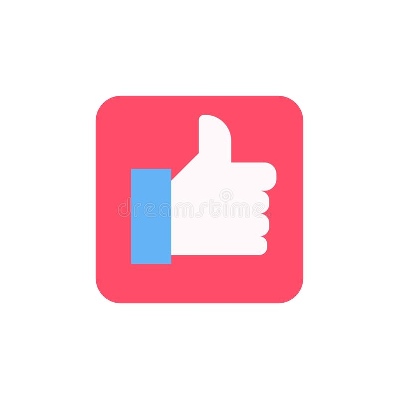 Thumb Up vector icon. Style is flat symbol, cobalt color, rounded angles, white background vector illustration