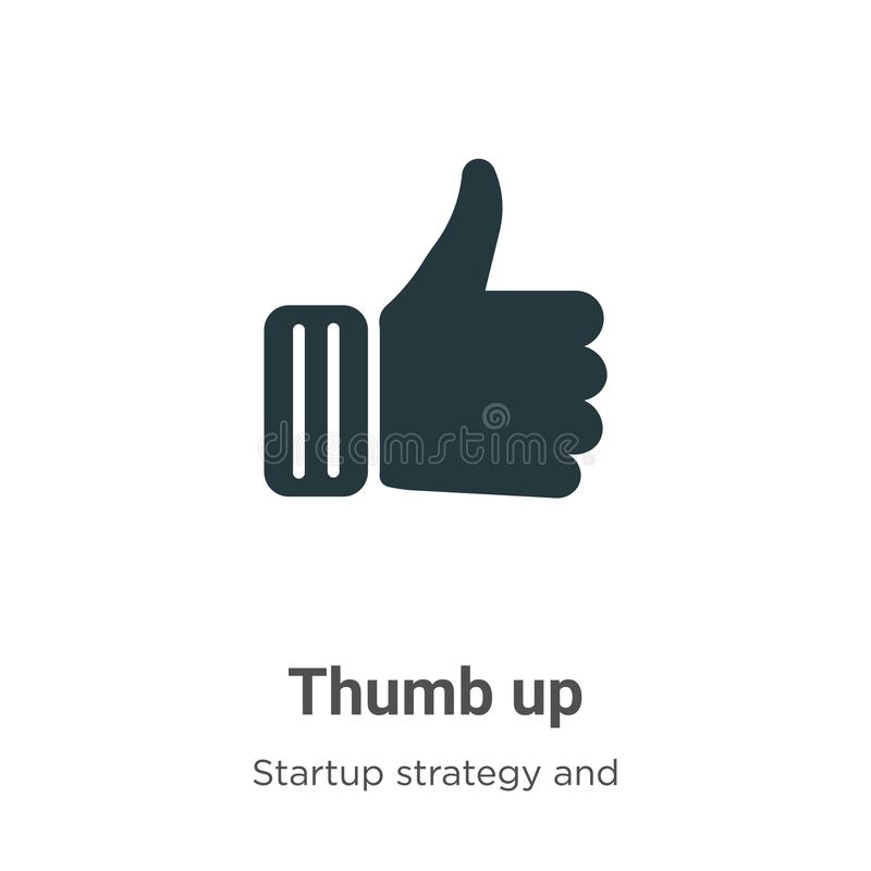 Thumb up vector icon on white background. Flat vector thumb up icon symbol sign from modern startup strategy and success vector illustration
