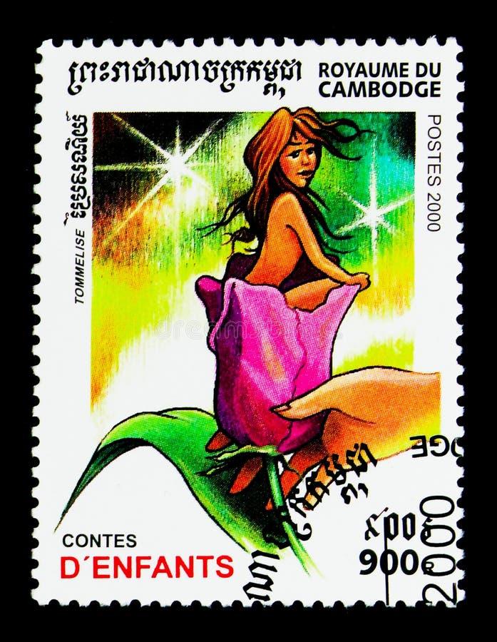 Thumbelina,儿童` s故事serie,大约2000年 皇族释放例证