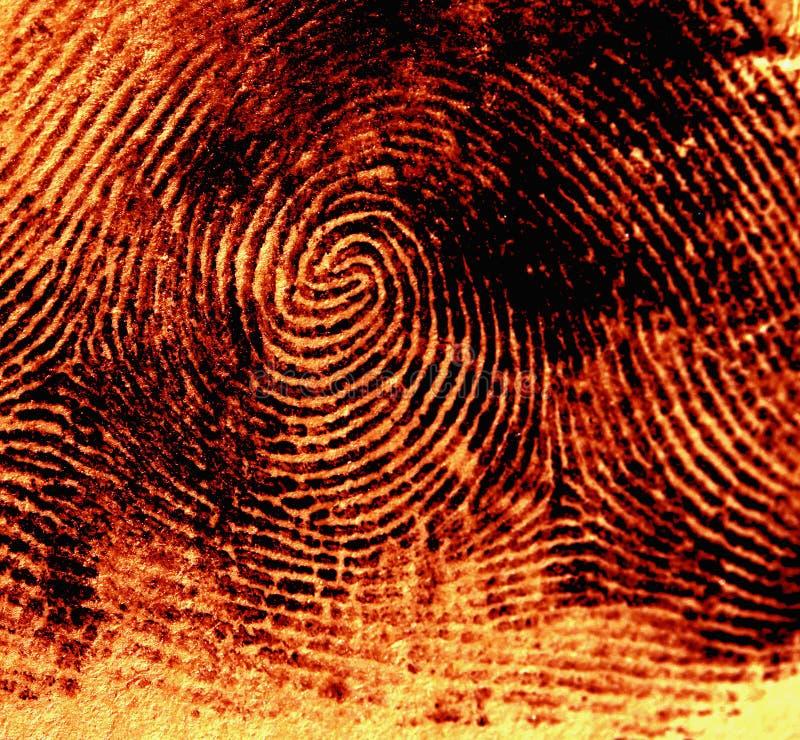thumbprint arkivbild