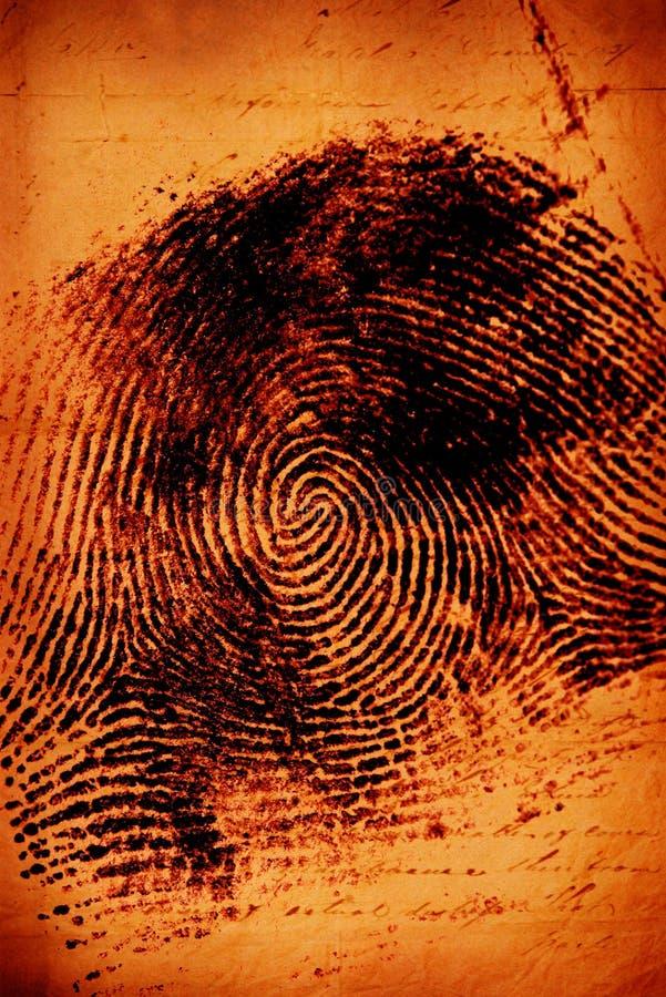 Thumbprint fotografía de archivo libre de regalías