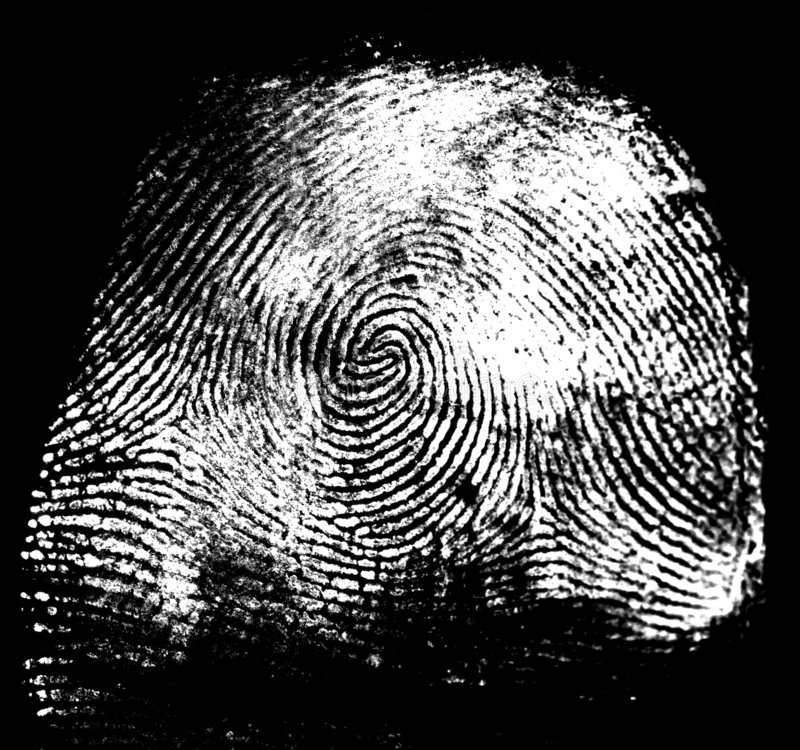 Thumbprint imagen de archivo libre de regalías