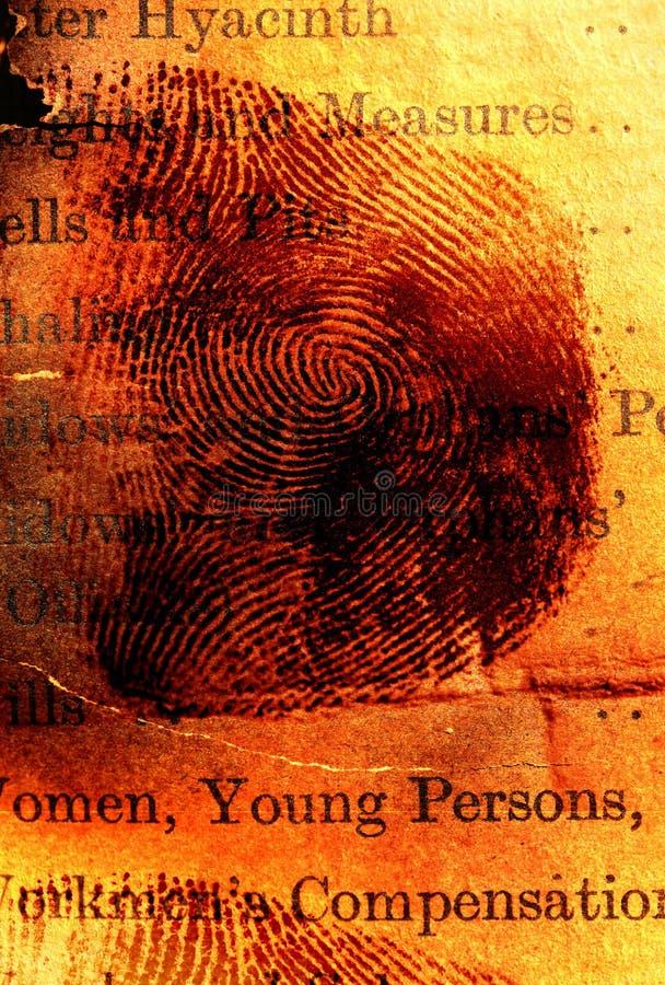 Thumbprint fotos de archivo