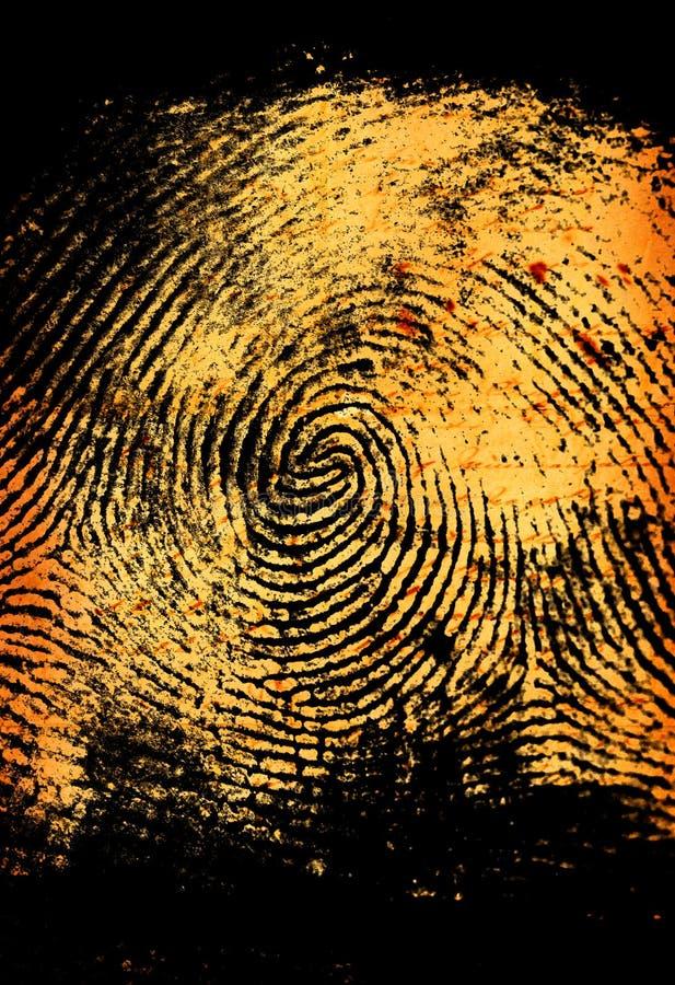Thumbprint fotografía de archivo