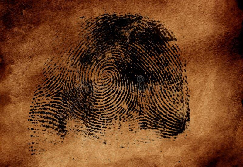thumbprint royaltyfria bilder