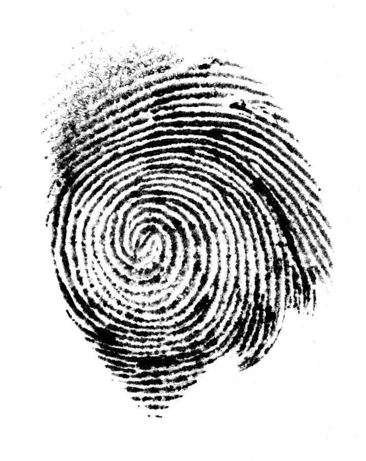 thumbprint zdjęcie royalty free