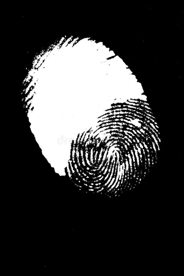 thumbprint royaltyfri bild