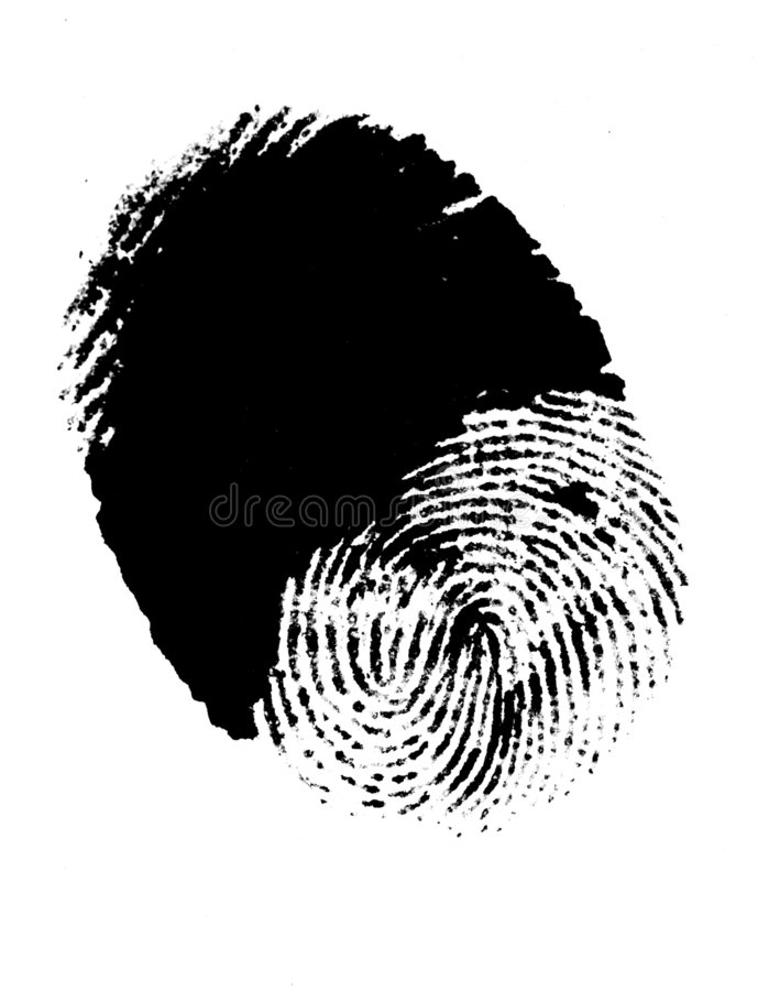 Thumbprint imagem de stock