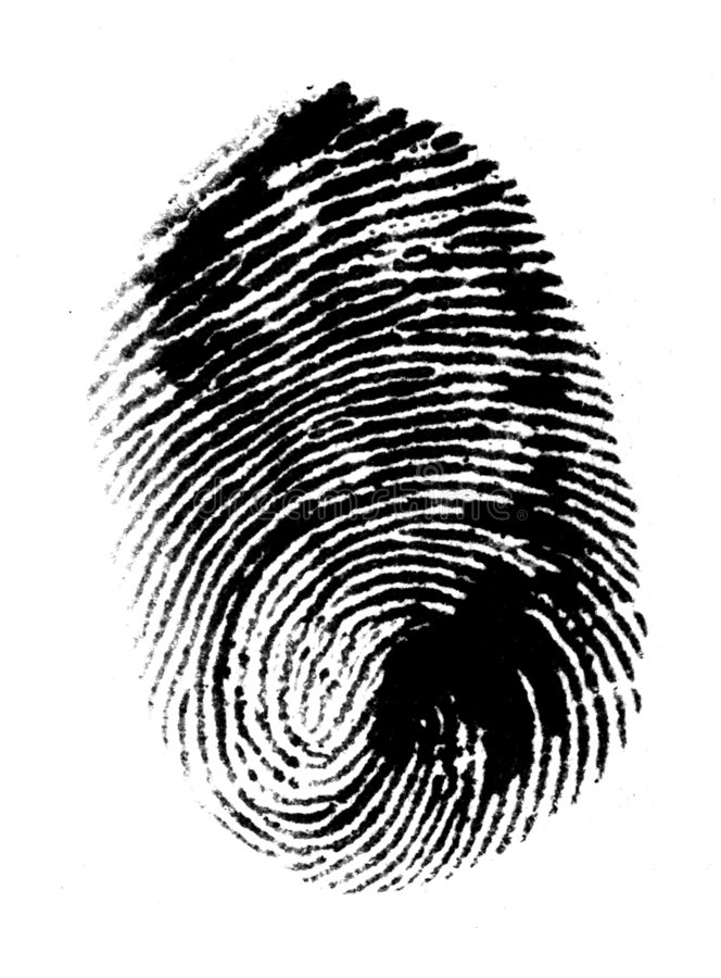 thumbprint 免版税库存图片