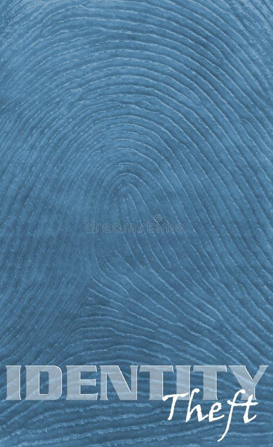 Thumbprint Hintergrund-Identität stockfotos