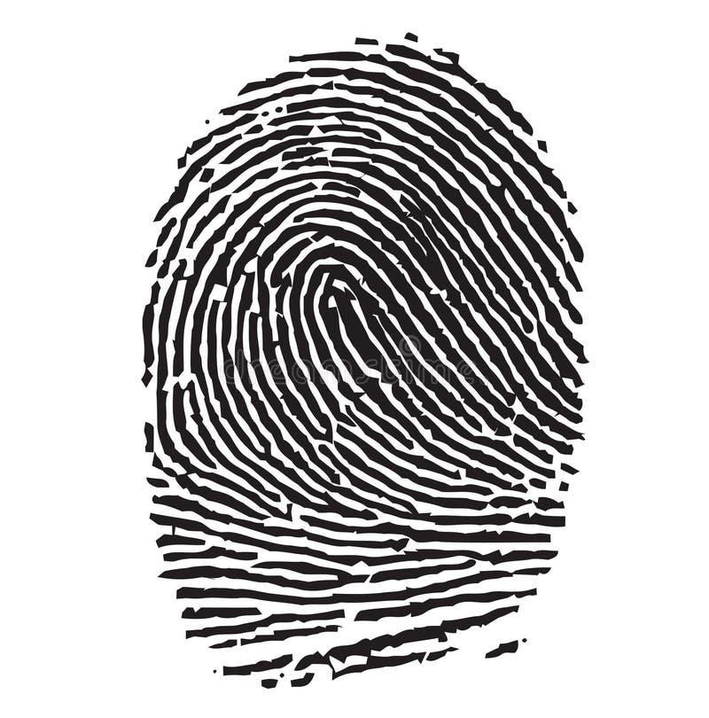 Thumbprint nero illustrazione di stock