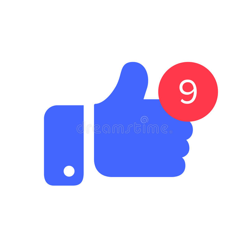 Thumbs With Counter Notification Icon Counter And Thumb Symbol