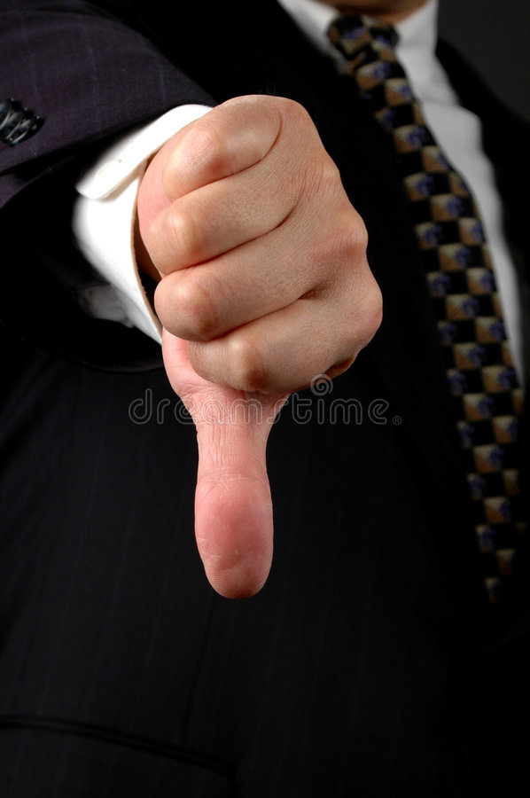Thumbs Down royalty free stock images