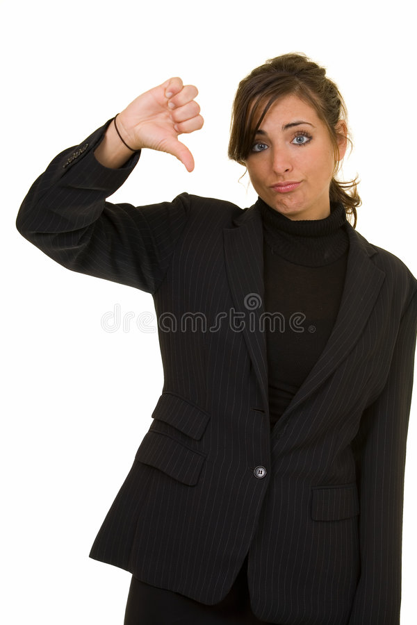 Download Thumbs down stock photo. Image of lady, business, hand - 2222456
