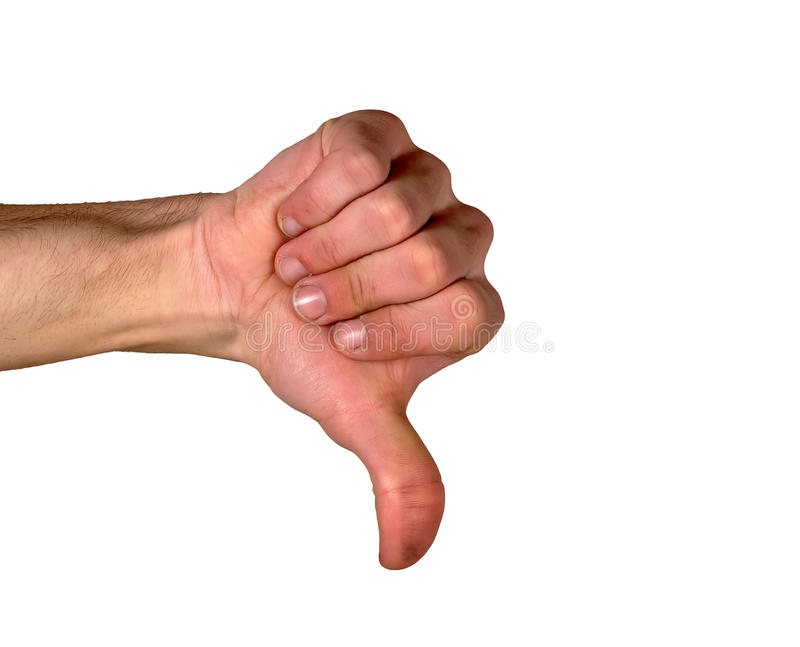 foto de Thumbs down stock photo Image of hand pointing point