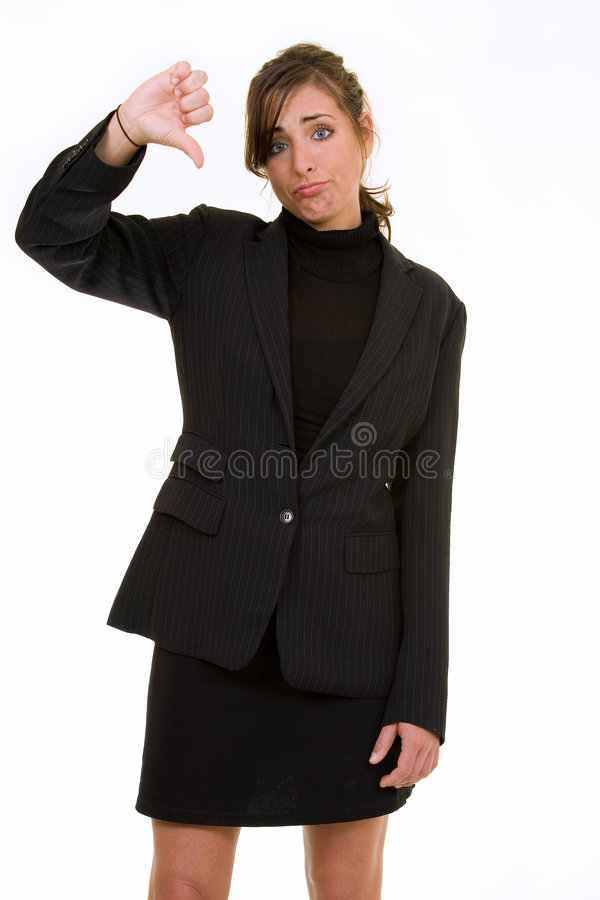 Download Thumbs down stock image. Image of confident, female, business - 2410051