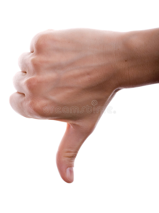 Download Thumbs down stock photo. Image of thumb, dissapoint, negative - 4636538