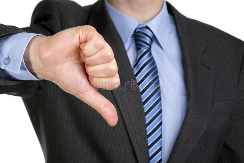 Thumbs down hand gesture royalty free stock image