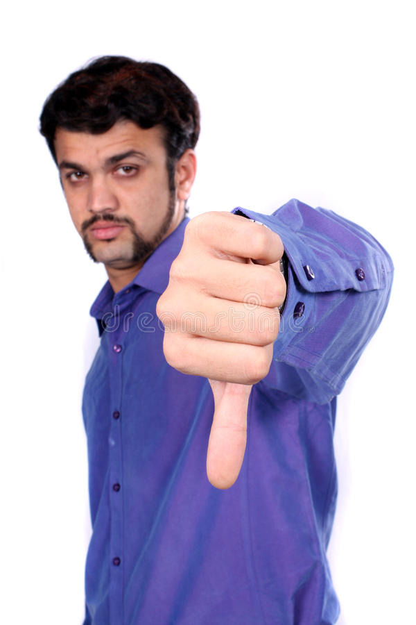 Thumbs Down Sign Royalty Free Stock Photo