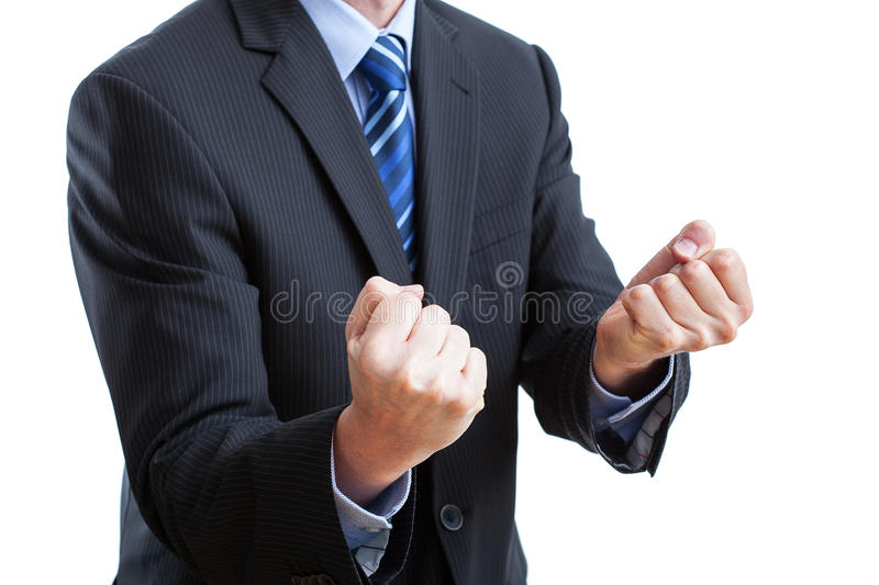 Thumbs holded for good luck stock photos