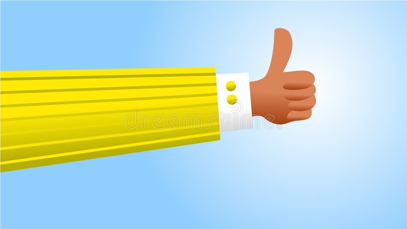Download Thumbs up stock illustration. Image of parts, possibilities - 1104696