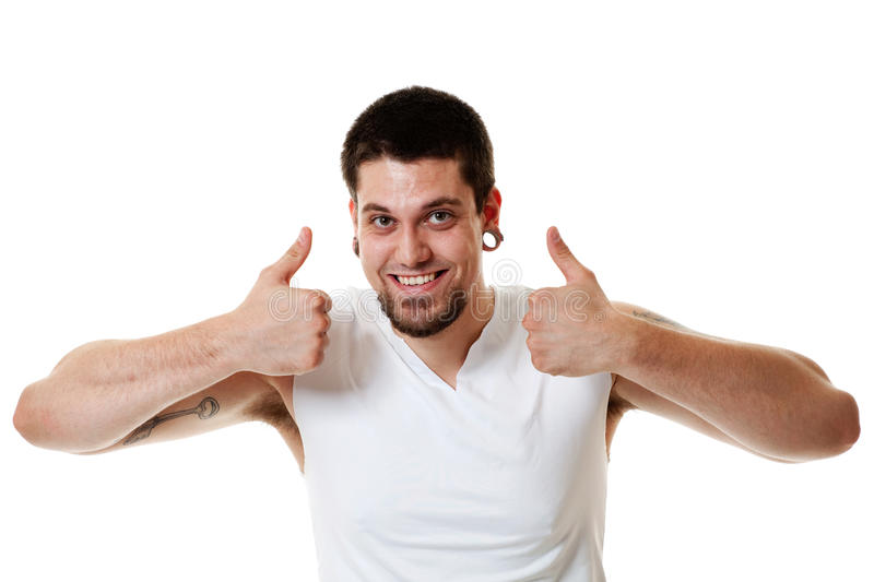Download Thumbs Up stock photo. Image of casual, piercing, smiling - 14858504
