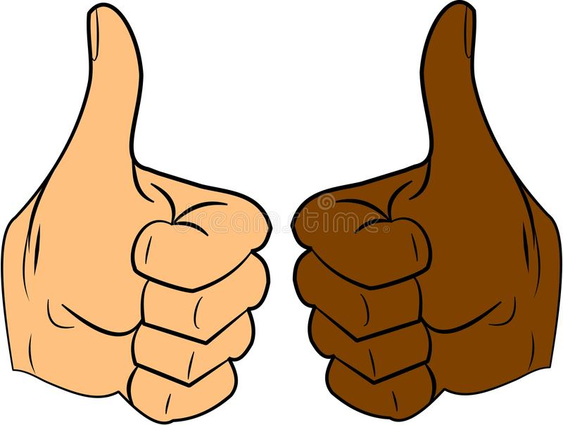 Download Thumbs up stock vector. Illustration of skin, agreement - 23511258