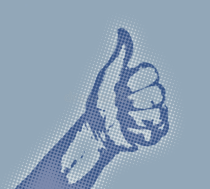 Thumbs up vector illustration