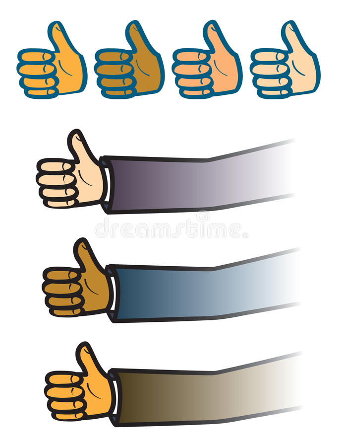 Download Thumbs Up stock vector. Image of thumbs, suit, ethnic - 28920692