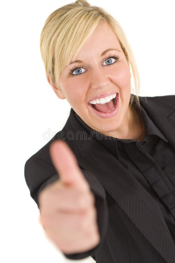 Download Thumbs Up stock photo. Image of blond, thumb, laughing - 7751536