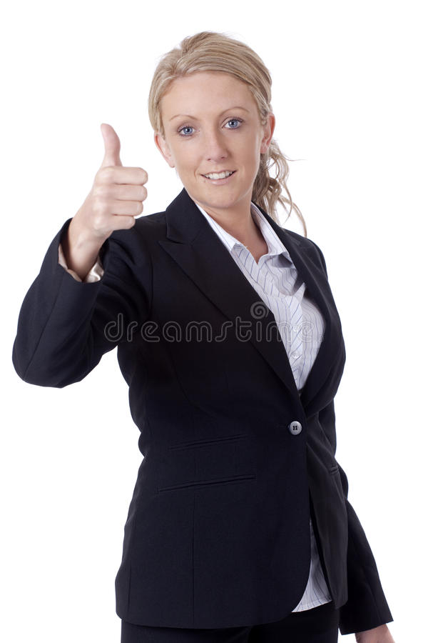Download Thumbs up stock image. Image of gesture, office, girl - 9397437