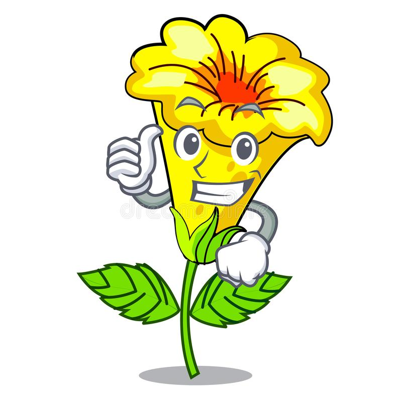Free Thumbs Up Allamanda Flowers Stick To Character Stem Royalty Free Stock Photos - 143101478