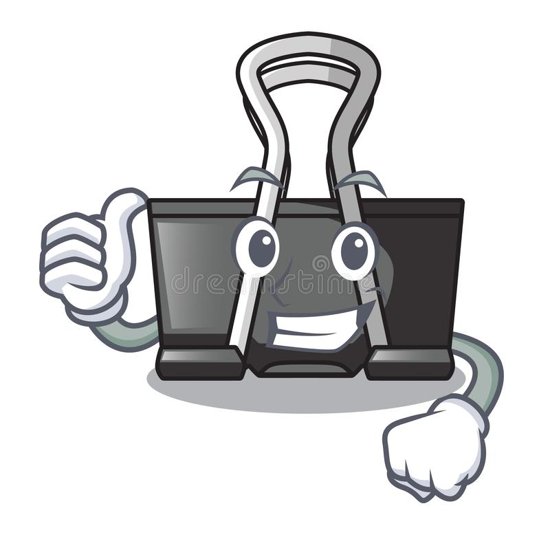 Thumbs up binder clip isolated on the cartoon. Vector illustration vector illustration