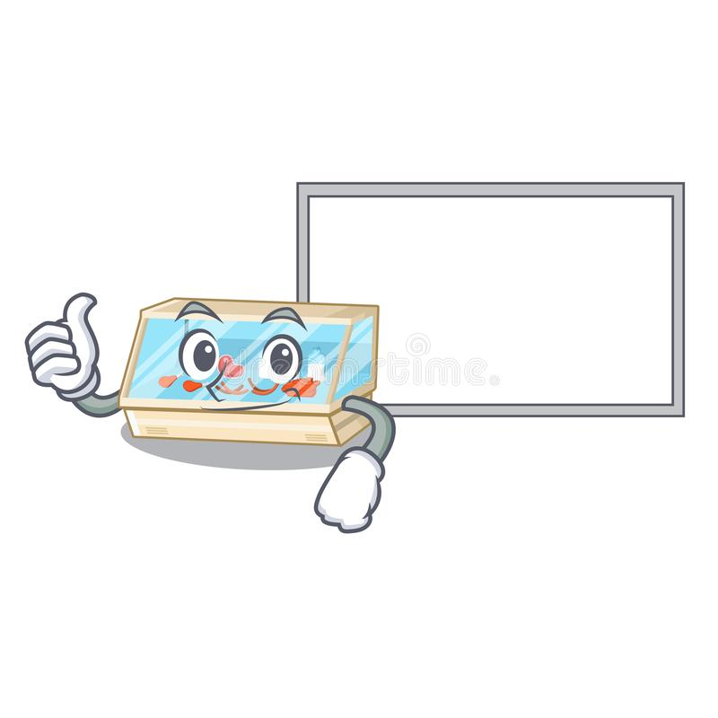 Thumbs up with board trade counter in the mascot shape. Vector illustration vector illustration