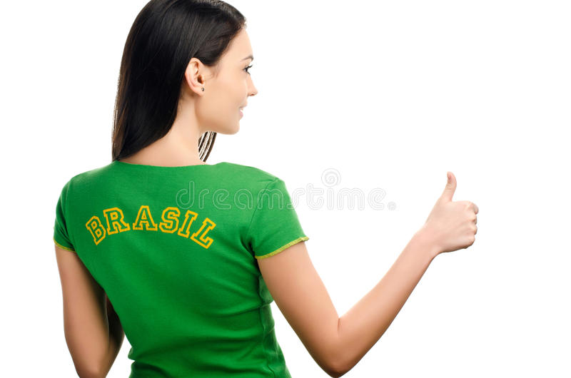 Download Thumbs up for Brazil. stock photo. Image of portrait - 32142478
