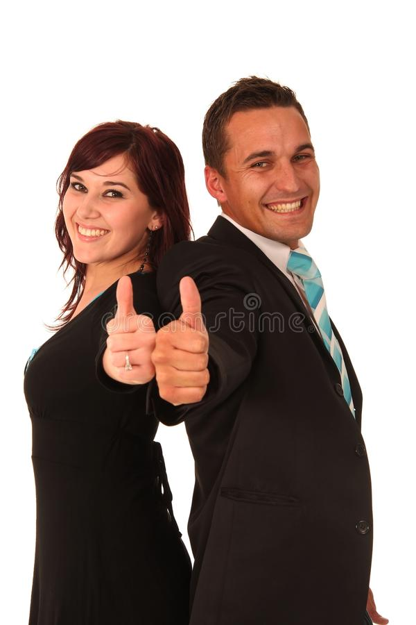 Download Thumbs Up Business Couple stock photo. Image of college - 10871018