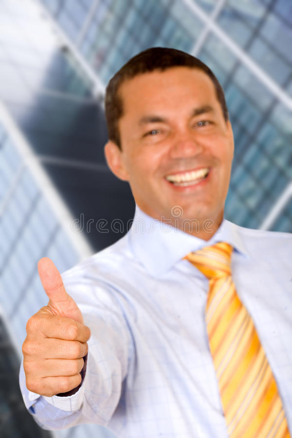 Thumbs-up business man