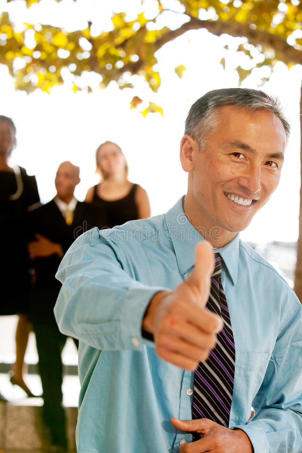 Thumbs Up Business Man royalty free stock images