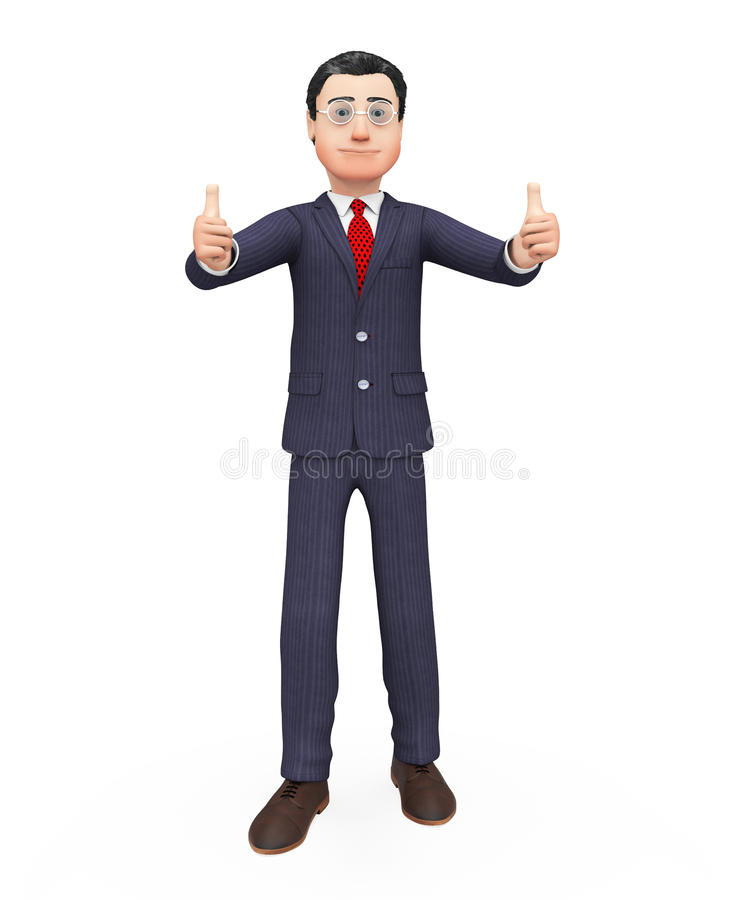 Free Thumbs Up Businessman Means All Right And Agree Stock Photography - 53481642
