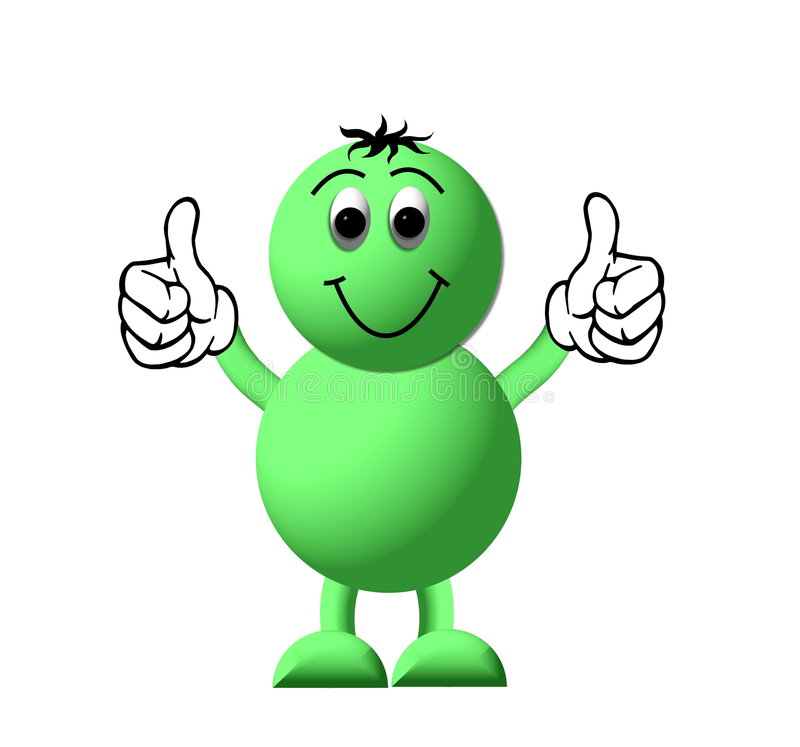 Thumbs Up Cartoon Royalty Free Stock Image