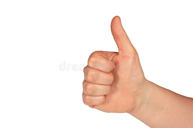 Thumbs Up (with clipping path) royalty free stock photography