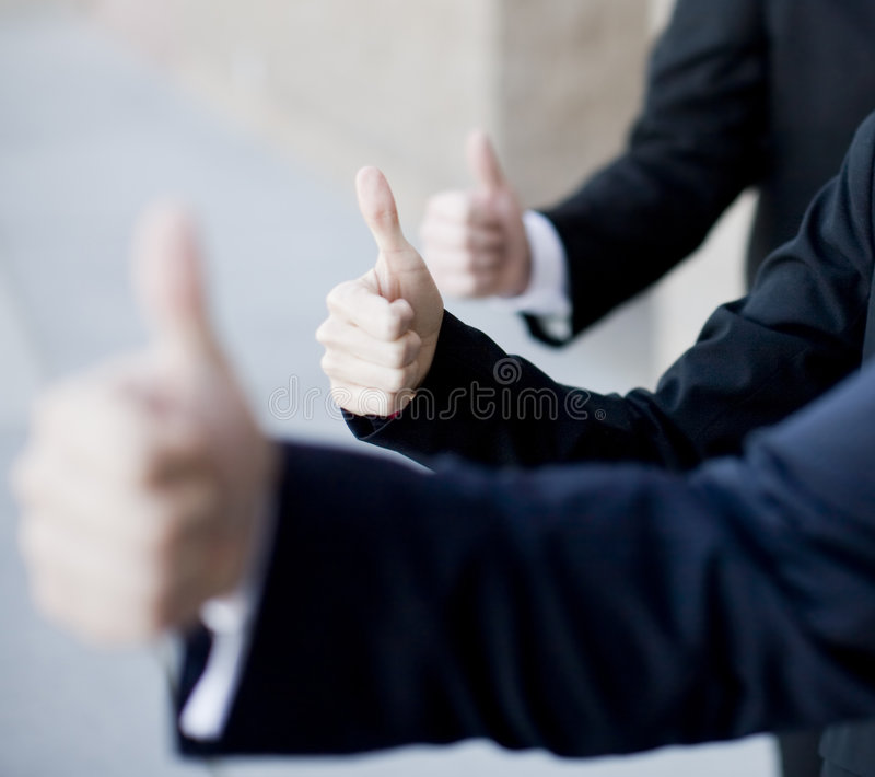 Thumbs-up d'affaires photo stock