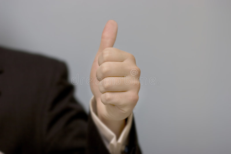 Thumbs-Up d'homme d'affaires images stock