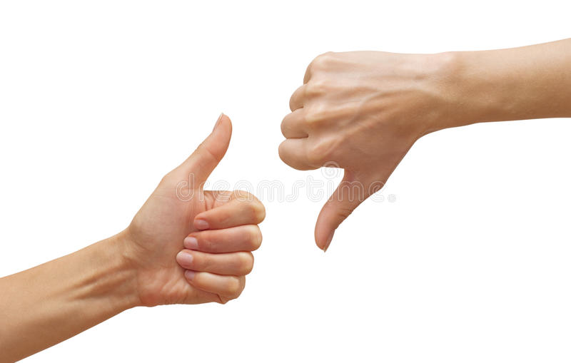 Download Thumbs up and down stock image. Image of voting, hand - 13266825