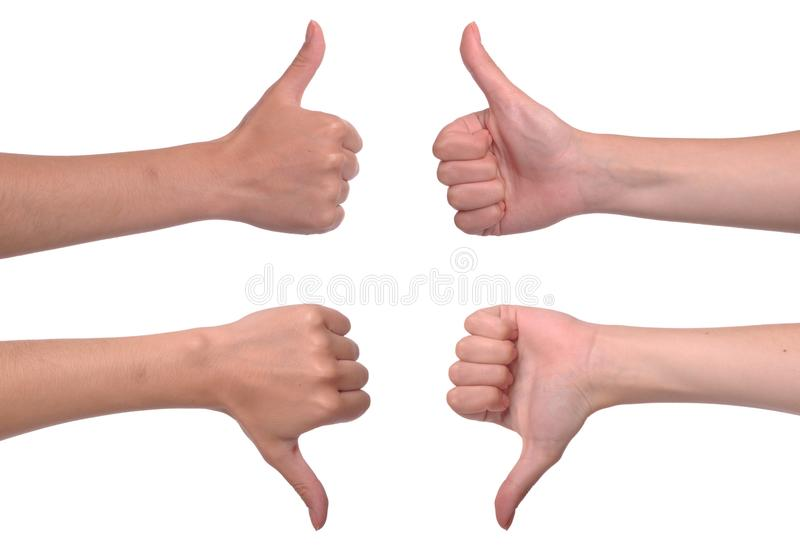 Download Thumbs up and down stock photo. Image of gesture, fist - 15488622